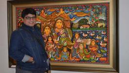 Shriya Saran, Ayub Khan, Rajat Tangri and Leander Paes At An Art Event