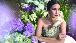 Elena Fernandes shot for prominent Indian designers in London