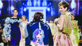 Kalki Koechlin walks the ramp for Delna Poonawalla's Rock Chic collection