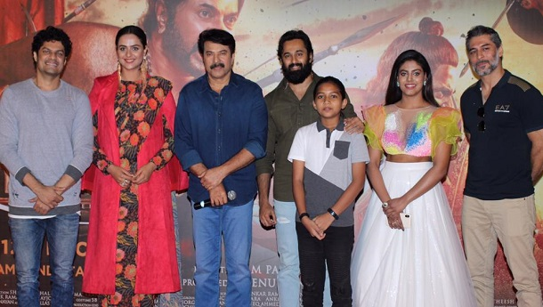 Megastar Mammootty and the cast launched the Hindi trailer of Mamangam