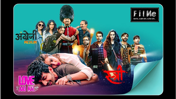 FilMe acquired rights of Angrezi Medium, Love Aaj Kal and Bala for its platform