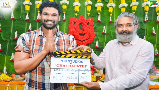 Rajamouli gives Muhurtham clap for Bollywood debutant Bellamkonda Sai Sreenivas much-awaited action entertainer