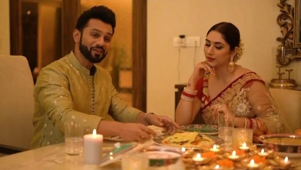 Rahul Vaidya leaves a Classic Impression on Disha Parmar this Karwa Chauth